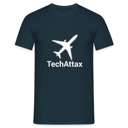 Tech Attax Logo trans tex - Men's T-Shirt