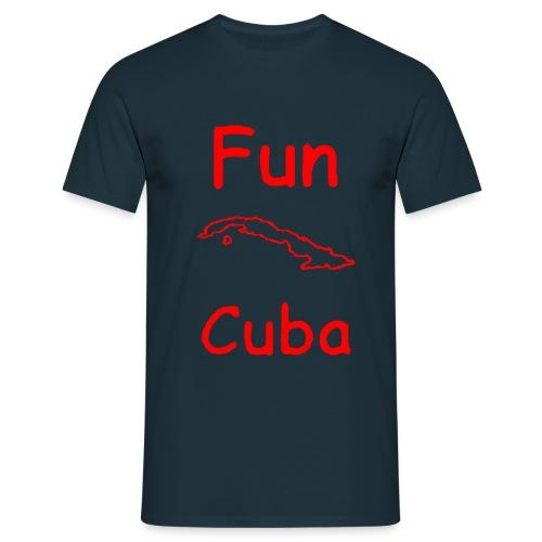 FUN CUBA BORDO ROSSO - Maglietta da uomo