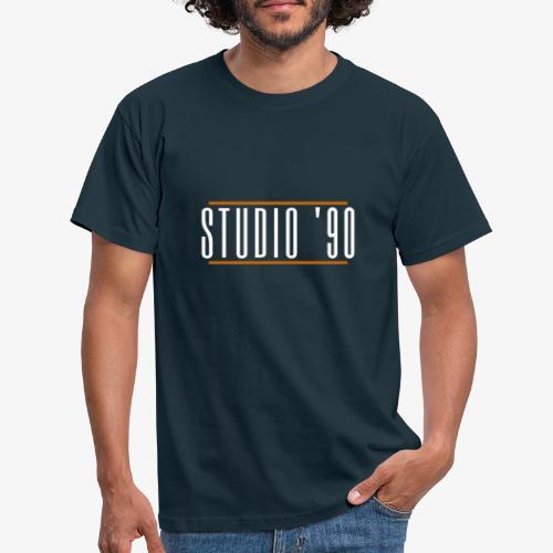 Logo wit Studio 90 - Mannen T-shirt