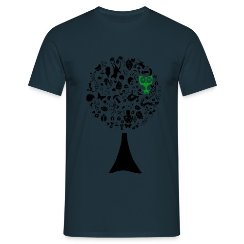 baum // eule grün - Männer T-Shirt