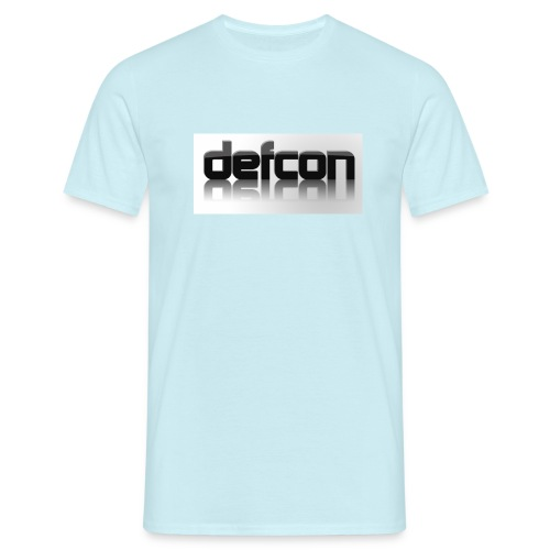 defcon 3d with reflection - Men's T-Shirt