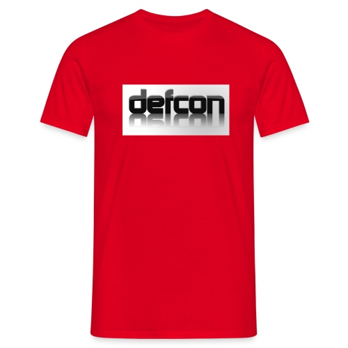 defcon 3d with reflection - Men's T-Shirt
