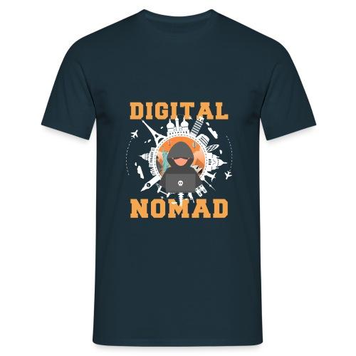 Digital Nomad - Männer T-Shirt