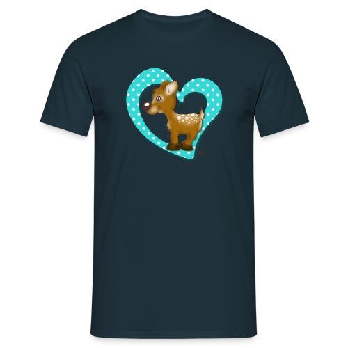Kira Kitzi Aqua - Männer T-Shirt