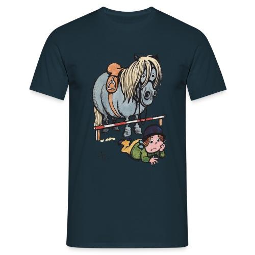 Thelwell Reiterin Liegt Hinter Dem Sprung - Männer T-Shirt
