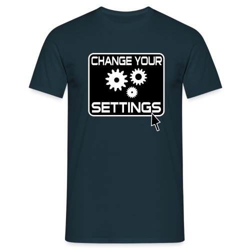 Settings Gamer Button - Männer T-Shirt