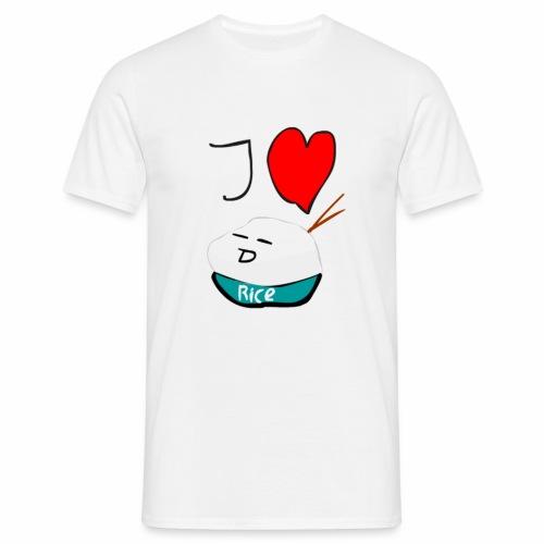 I Love Rice T-Shirt - Mannen T-shirt