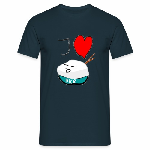 I Love Rice T-Shirt - Mannen T-shirt