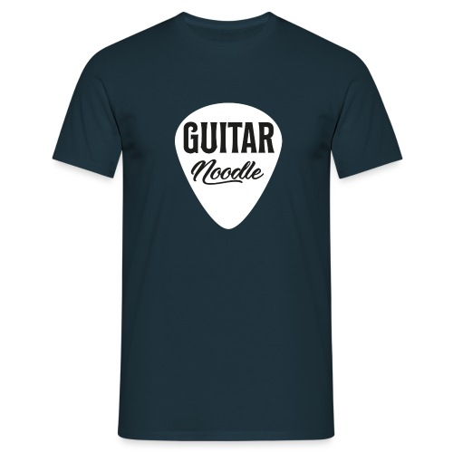 Guitar Noodle Plectrum Logo - Men's T-Shirt