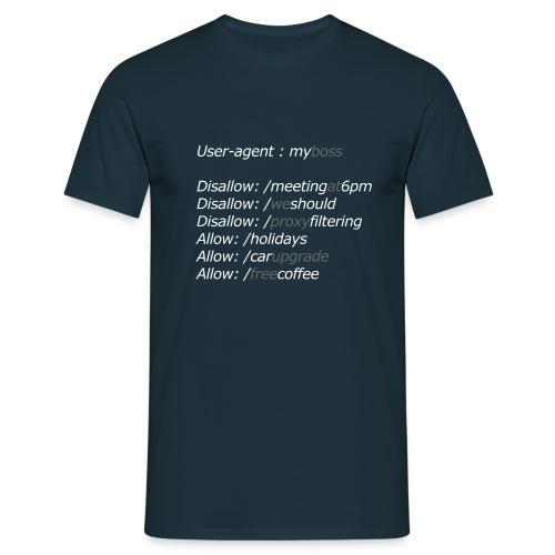 robots-myboss - T-shirt Homme