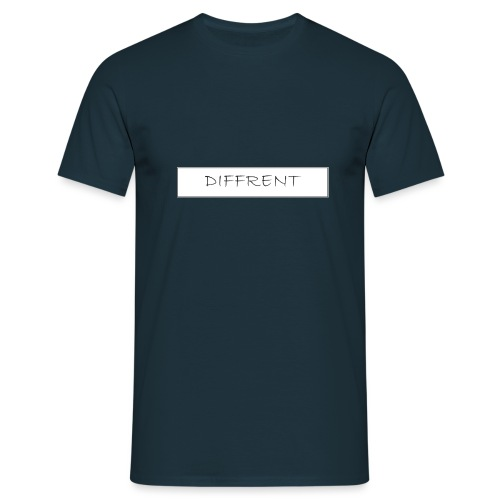 diffrent white logo - T-shirt herr