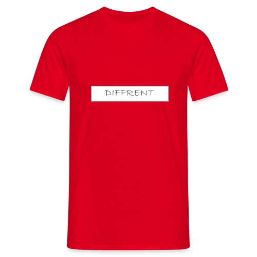 diffrent white logo - T-shirt herr