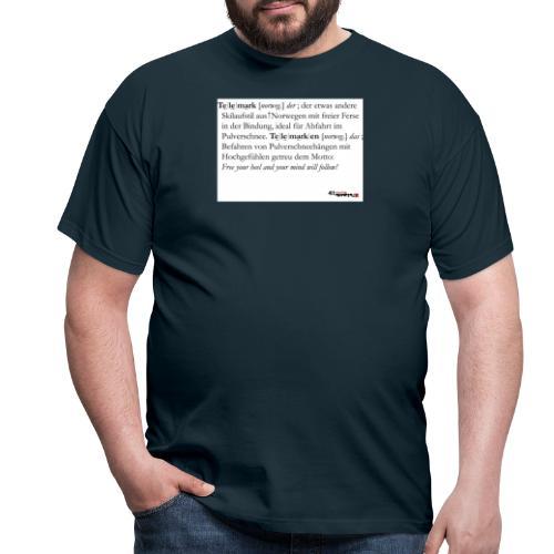 Telemark - die Definition - Männer T-Shirt