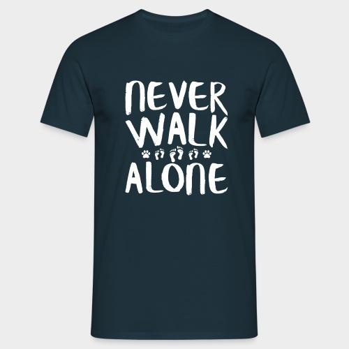 Never Walk Alone Hund - Männer T-Shirt