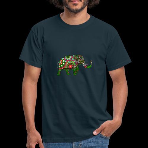 Colorful Elephant - Men's T-Shirt