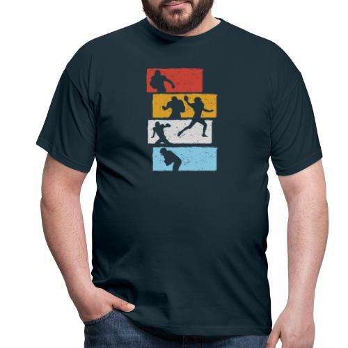 retro streifen football spieler - Männer T-Shirt