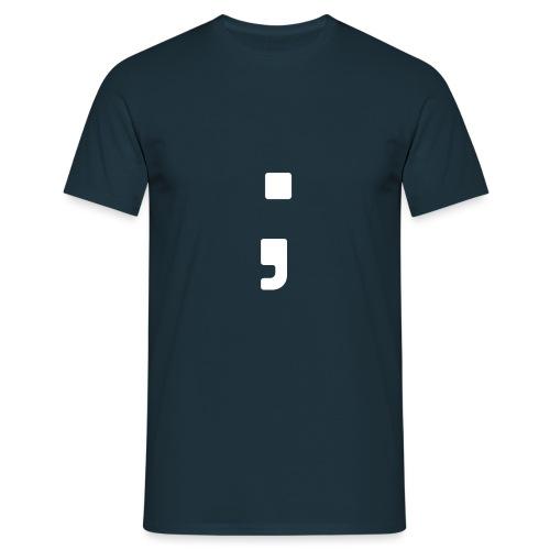 Tag des Semikolon Strichpunkt T-Shirt - Männer T-Shirt