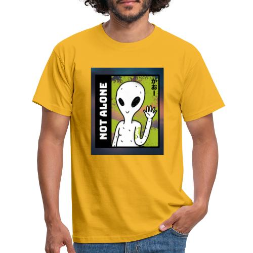 alien t shirt design maker featuring a smiling ali - Herre-T-shirt