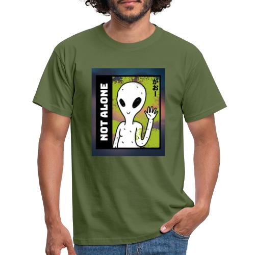 alien t shirt design maker featuring a smiling ali - Herre-T-shirt