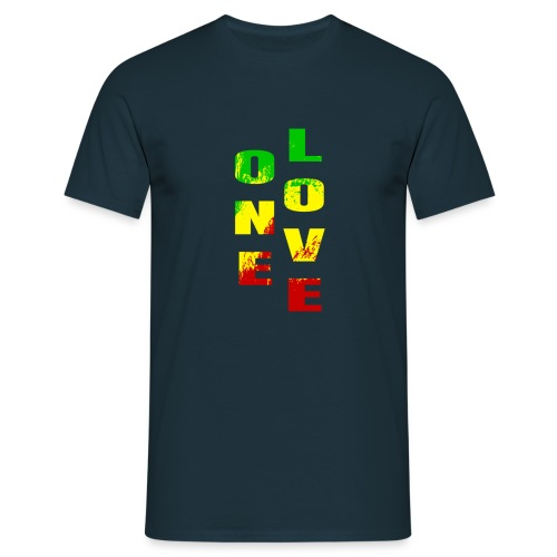 One Love Rasta Colors Peace Design - T-shirt Homme
