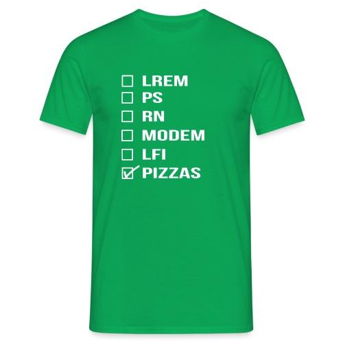 PIZZAS POLITIC PARTY - Idée cadeau homme femme - T-shirt Homme