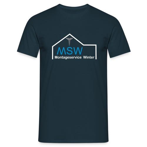 montageservice winter 2 3col neu2 - Männer T-Shirt