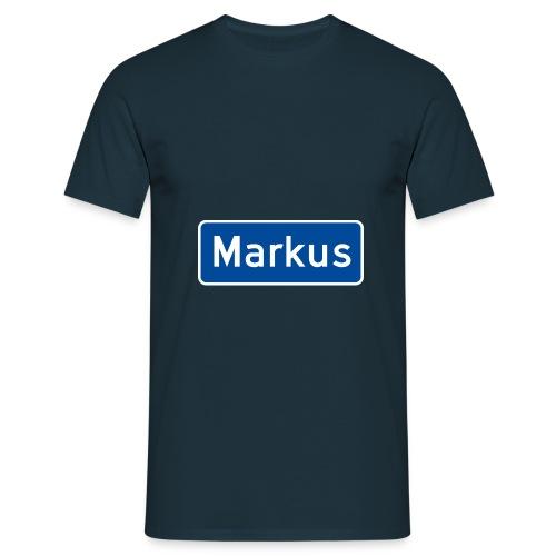 Markus veiskilt, fra Det norske plagg - T-skjorte for menn