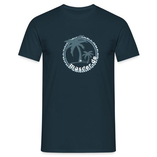 Masder Malle_blau_uni_HG - Männer T-Shirt