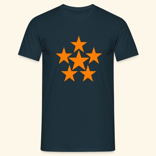 5 STAR orange - Männer T-Shirt