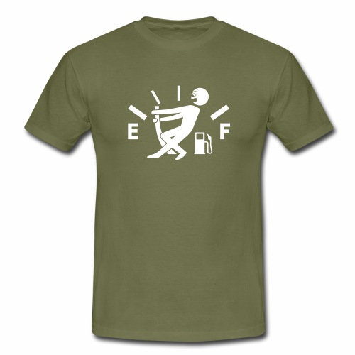 Empty tank - no fuel - fuel gauge - Men's T-Shirt