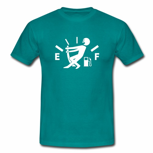 Empty tank - no fuel - fuel gauge - Men's T-Shirt