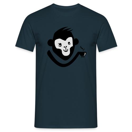 Kaffee-Affe - Männer T-Shirt