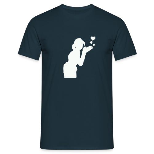 T Icon Emotes E BlowKiss L png - T-shirt Homme
