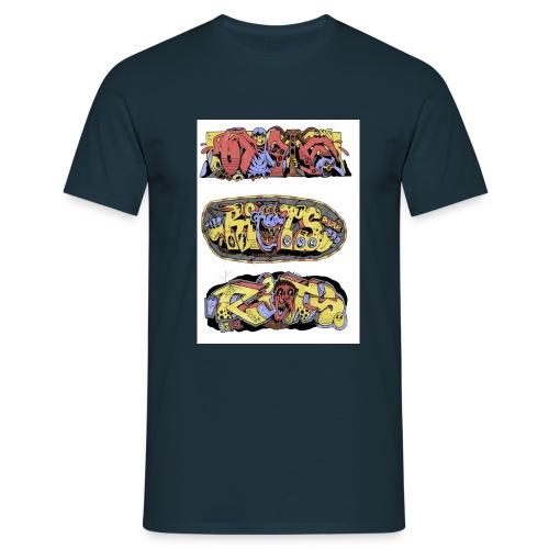 Riot_Sketch_4 - Männer T-Shirt