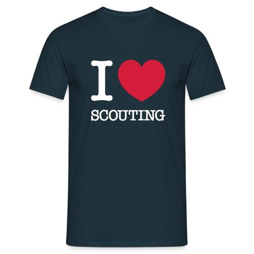I love Scouting - Mannen T-shirt
