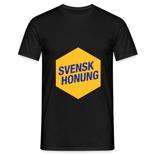 Svensk honung Hexagon Gul/Blå - T-shirt herr