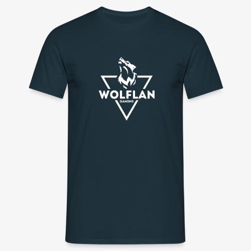 WolfLAN Logo White - Men's T-Shirt