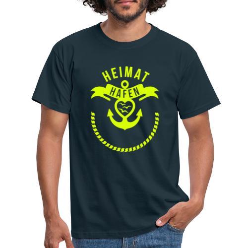 Heimathafen mit Wunschtext - Männer T-Shirt