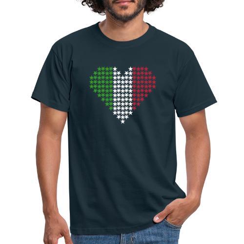 Herz Flagge Italien - Männer T-Shirt