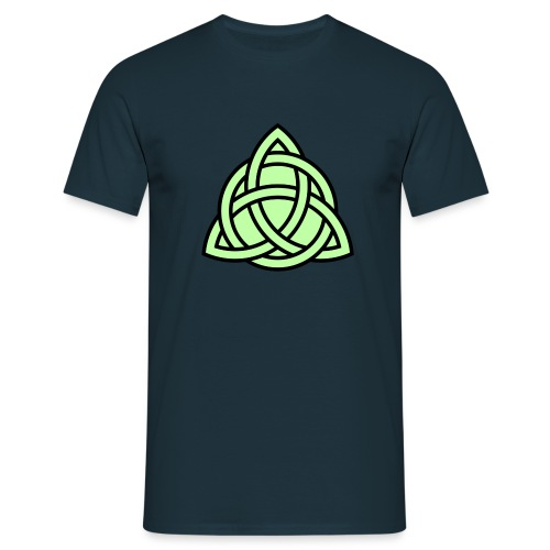 Triquetra circle interlaced svg png - Men's T-Shirt