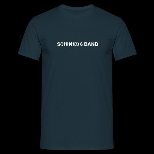 SCHINKO BAND Logo Weiß - Männer T-Shirt