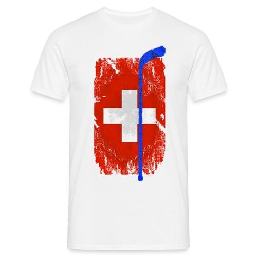 Schweizer Flagge Hockey - Männer T-Shirt