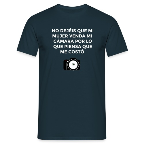 SI MUERO NO DEJEIS QUE MI MUJER VENDA MI CAMARA - Camiseta hombre