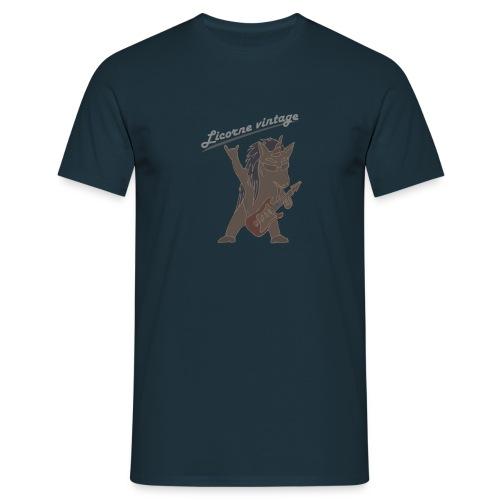 Licorne guitare metal sans fond - T-shirt Homme
