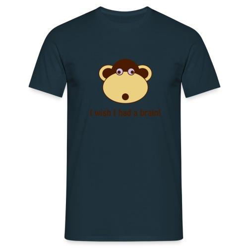 I wish I had a brain - Männer T-Shirt