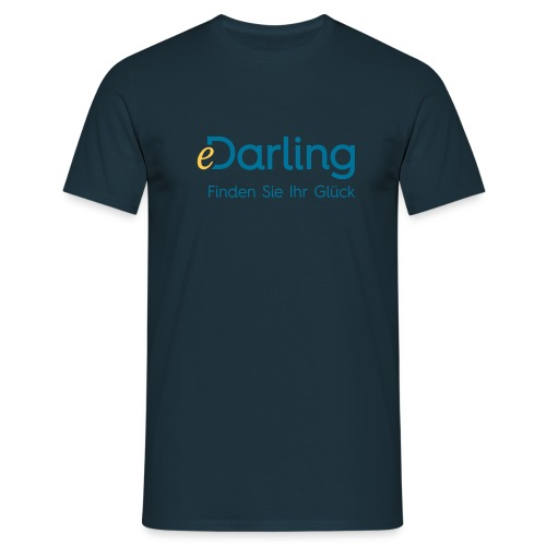 eDarling Logo Dark Claim DE - Männer T-Shirt