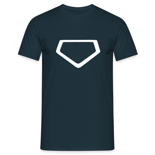 Baseball Homeplate Outline - Men's T-Shirt