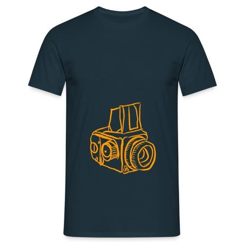 Kamera B orange - Männer T-Shirt