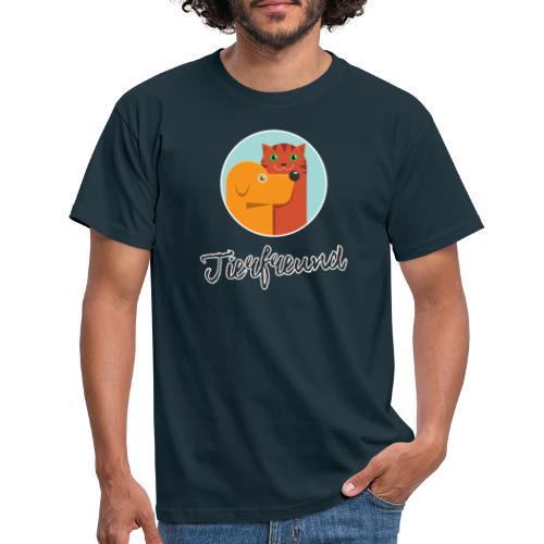 Tierfreund mit Schriftzug - Männer T-Shirt