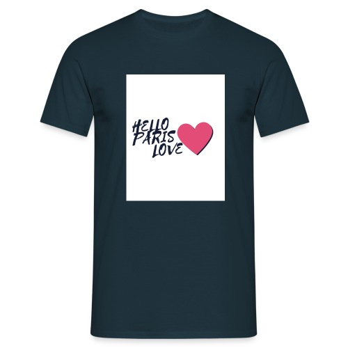 hello paris love 2 - T-shirt Homme